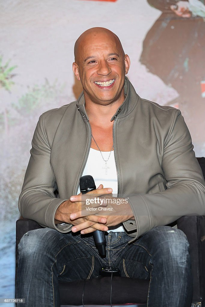 Vin Diesel attends a press conference to promote the Paramount Pictures film 'xXx: Return of Xander Cage' at St. Regis Hotel on January 5, 2017 in Mexico City, Mexico.