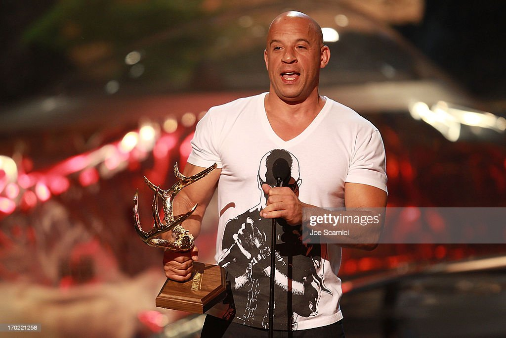 <a gi-track='captionPersonalityLinkClicked' href=/galleries/search?phrase=Vin+Diesel&family=editorial&specificpeople=171983 ng-click='$event.stopPropagation()'>Vin Diesel</a> attends the 2013 Spike TV 'Guys Choice' - Show at Sony Pictures Studios on June 8, 2013 in Culver City, California.
