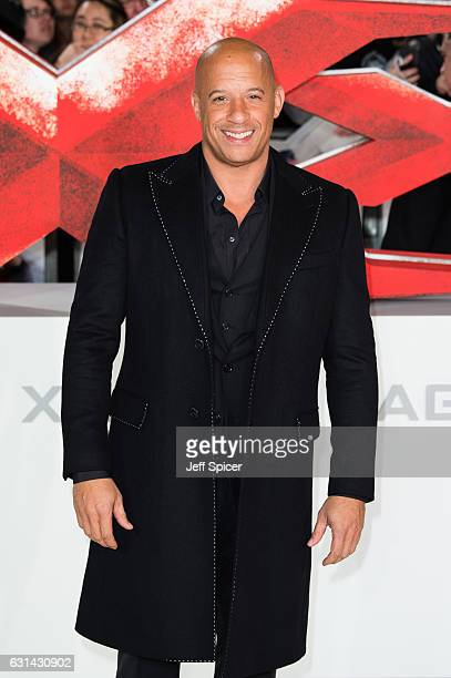 Vin Diesel attends the European premiere of 'xXx' Return of Xander Cage' on January 10 2017 in London United Kingdom