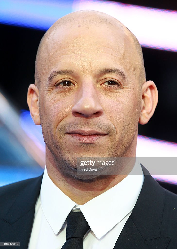 <a gi-track='captionPersonalityLinkClicked' href=/galleries/search?phrase=Vin+Diesel&family=editorial&specificpeople=171983 ng-click='$event.stopPropagation()'>Vin Diesel</a> attends The UK Film Premiere of The Fast And The Furious 6 at The Empire Cinema on May 7, 2013 in London, England.