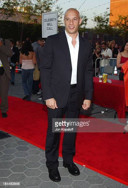 Vin Diesel during 'The Chronicles Of Riddick' World Premiere Arrivals at Universal Amphitheatre in Universal City California United States