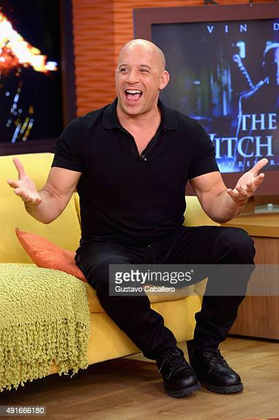 Vin Diesel is on the set Of Univisions 'Despierta America' to promote the film 'The Last Witch Hunter'at Univision Studios on October 7 2015 in Miami...
