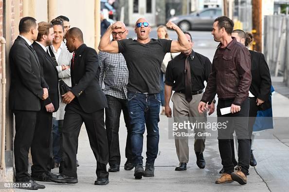 Vin Diesel is seen at Kimmel on January 17 2017 in Los Angeles California