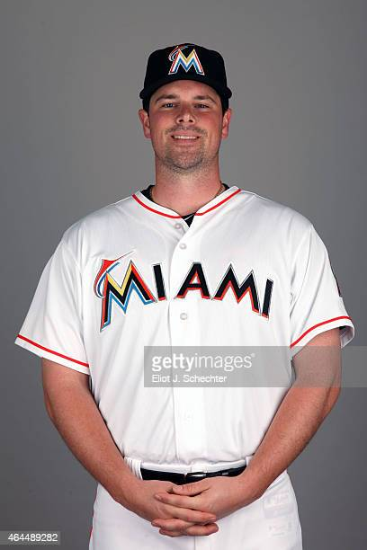 Vin Mazzaro of the Miami Marlins poses during Photo Day on Wednesday February 25 2015 at Roger Dean Stadium in Jupiter Florida