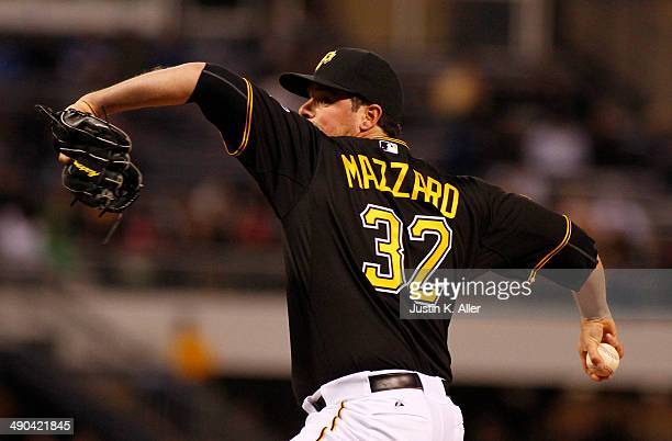 Vin Mazzaro of the Pittsburgh Pirates plays against the Toronto Blue Jays during the game at PNC Park May 3 2014 in Pittsburgh Pennsylvania