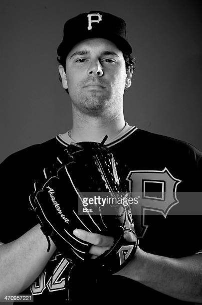 Vin Mazzaro of the Pittsburgh Pirates poses for a portrait during the Pittsburgh Pirates Photo day on February 21 2014 at Pirate City in Bradenton...