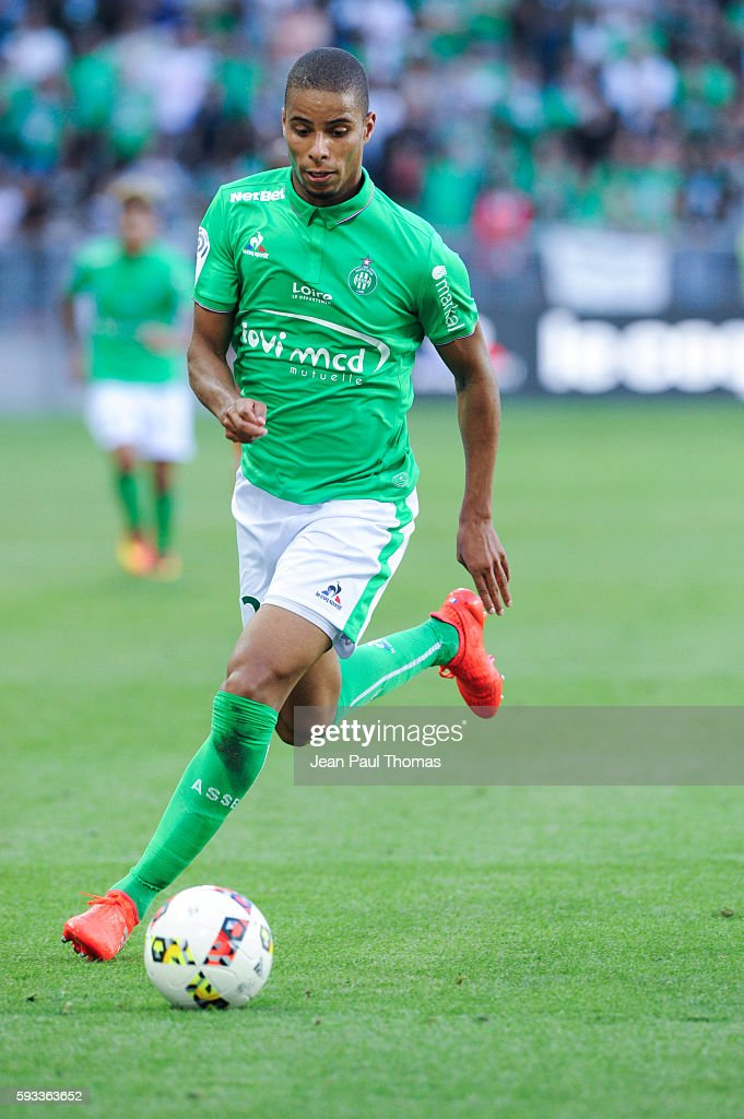 Kévin MONNET PAQUET of Saint Etienne during the Ligue 1 match between As Saint Etienne and Montpellier Herault at Stade GeoffroyGuichard on August...