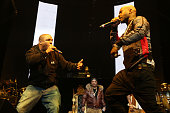 Vin Rock and Treach of Naughty by Nature perform during Hot 97's 'Busta Rhymes And Friends Hot For The Holidays' at Prudential Center on December 5...