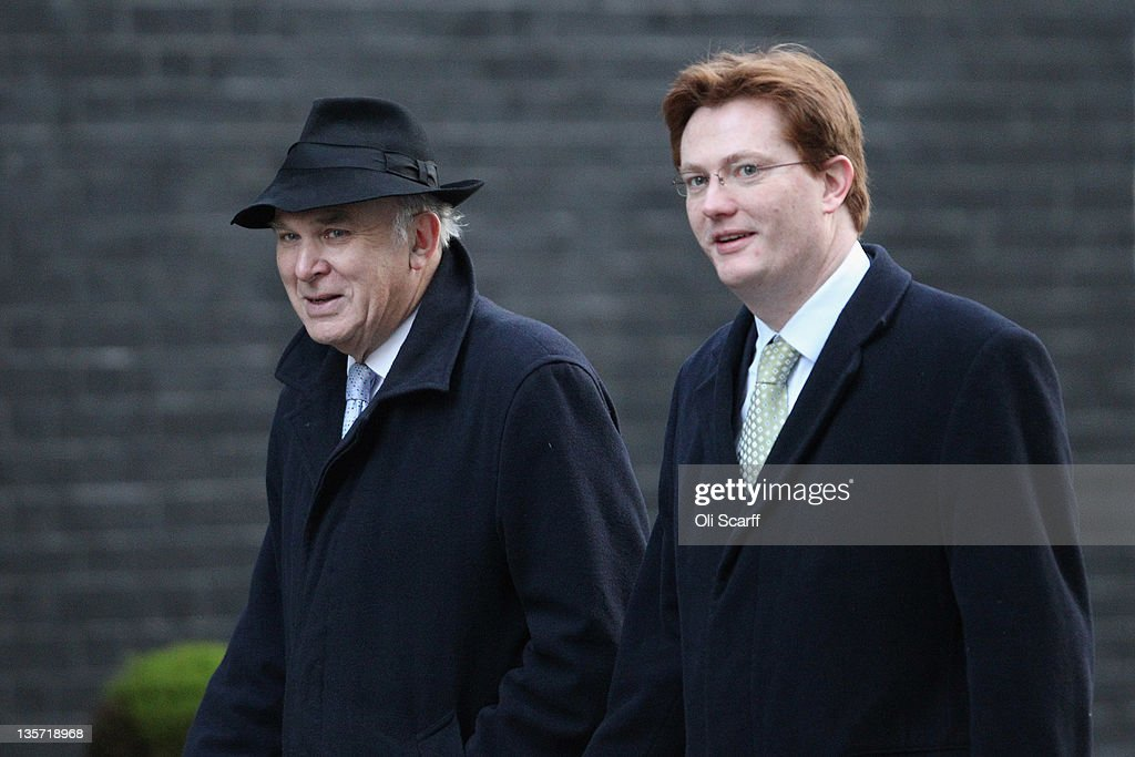 <a gi-track='captionPersonalityLinkClicked' href=/galleries/search?phrase=Vince+Cable&family=editorial&specificpeople=4872939 ng-click='$event.stopPropagation()'>Vince Cable</a> (L), the Business Secretary, and Danny Alexander, the Chief Secretary to the Treasury, arrive in Downing Street to attend the weekly Cabinet meeting on December 13, 2011 in London, England. Senior Conservatives and Liberal Democrats will likely discuss Prime Minster David Cameron's decision to implement the UK's veto at a recent EU summit; a move which was heavily criticised by the pro-European Deputy Prime Minister.