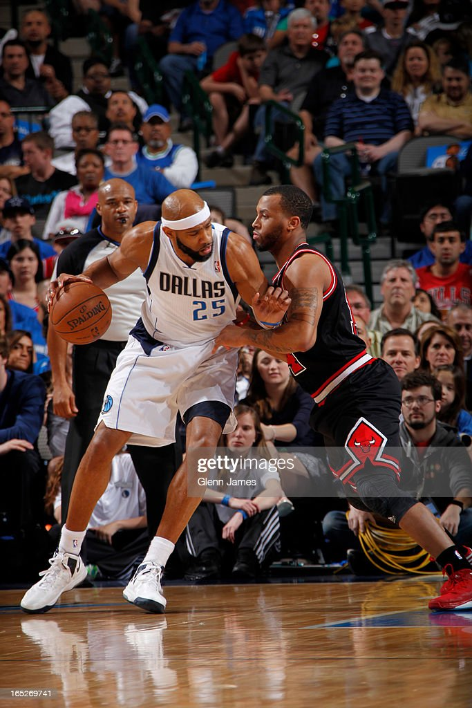 <a gi-track='captionPersonalityLinkClicked' href=/galleries/search?phrase=Vince+Carter&family=editorial&specificpeople=201488 ng-click='$event.stopPropagation()'>Vince Carter</a> #25 of the Dallas Mavericks drives to the basket against the Chicago Bulls on March 30, 2013 at the American Airlines Center in Dallas, Texas.