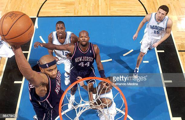 Vince Carter of the New Jersey Nets dunks against the Orlando Magic on December 21 2005 at TD Waterhouse Centre in Orlando Florida NOTE TO USER User...