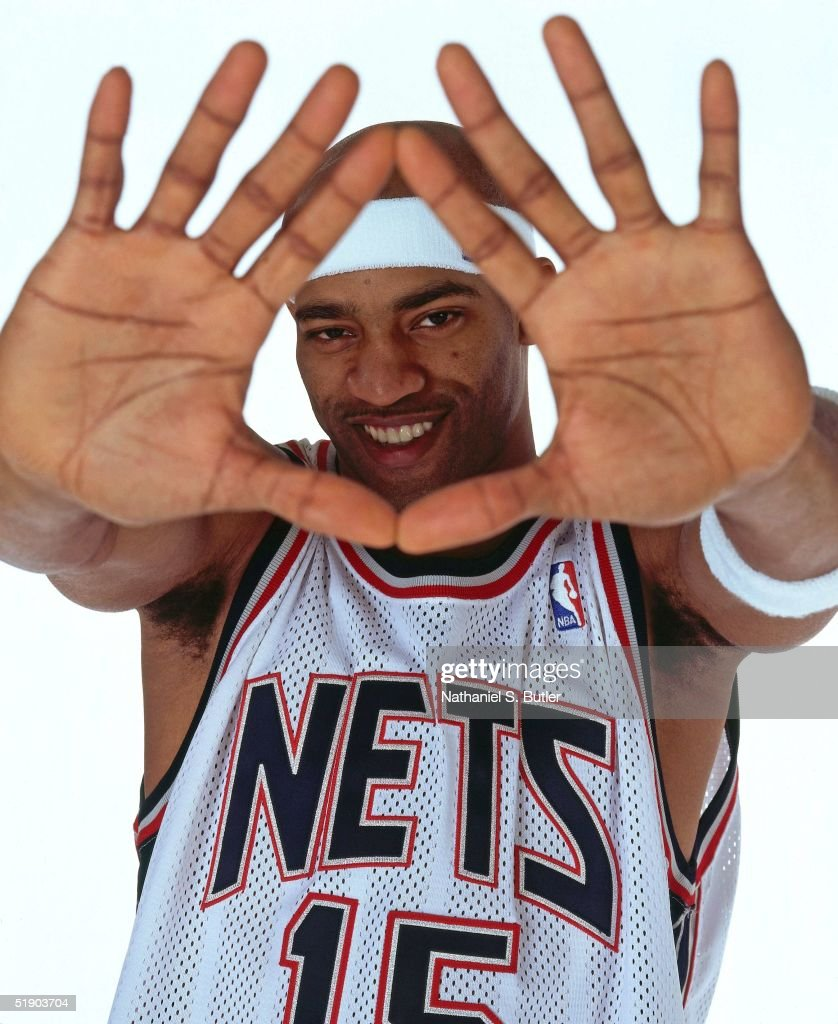 Vince Carter #15 of the New Jersey Nets poses for a portrait at the Champion Center Practice Facility on December 23, 2004 in East Rutherford, New Jersey.