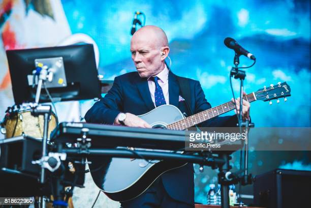 FESTIVAL BAROLO CUNEO ITALY Vince Clarke during Erasure perform live on stage in Barolo at the Collisioni Festival opening for Robbie Williams