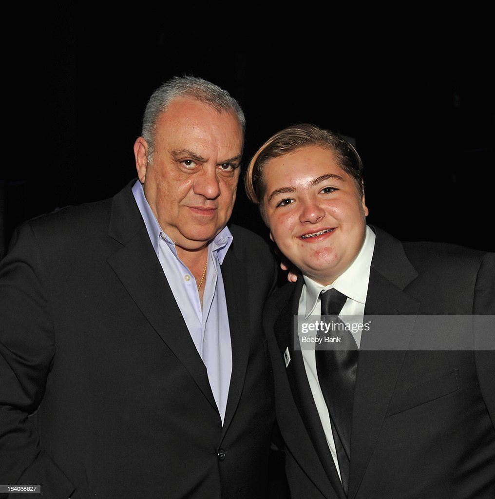 Vince Curatola and <a gi-track='captionPersonalityLinkClicked' href=/galleries/search?phrase=Michael+Gandolfini&family=editorial&specificpeople=2196017 ng-click='$event.stopPropagation()'>Michael Gandolfini</a> attends the Wounded Warrior Project Carry Foward Awards Arrivals at Club Nokia on October 10, 2013 in Los Angeles, California.