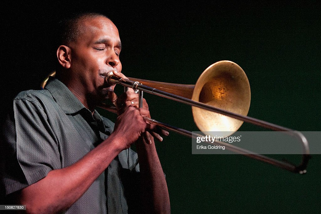 Vince Gardner performs during Love Moments: A Festival of Giving at Irvin Mayfield's I Club on August 26, 2012 in New Orleans, Louisiana.