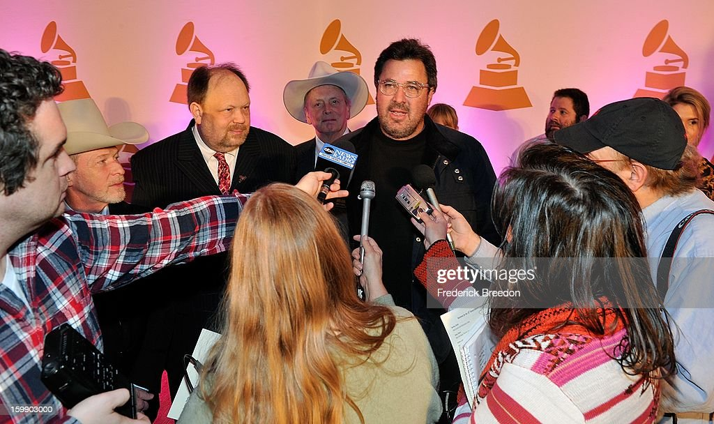 Vince Gill fields questions from the media at the Nashville GRAMMY Nominee Party at the Loews Vanderbilt Hotel on January 22, 2013 in Nashville, Tennessee.