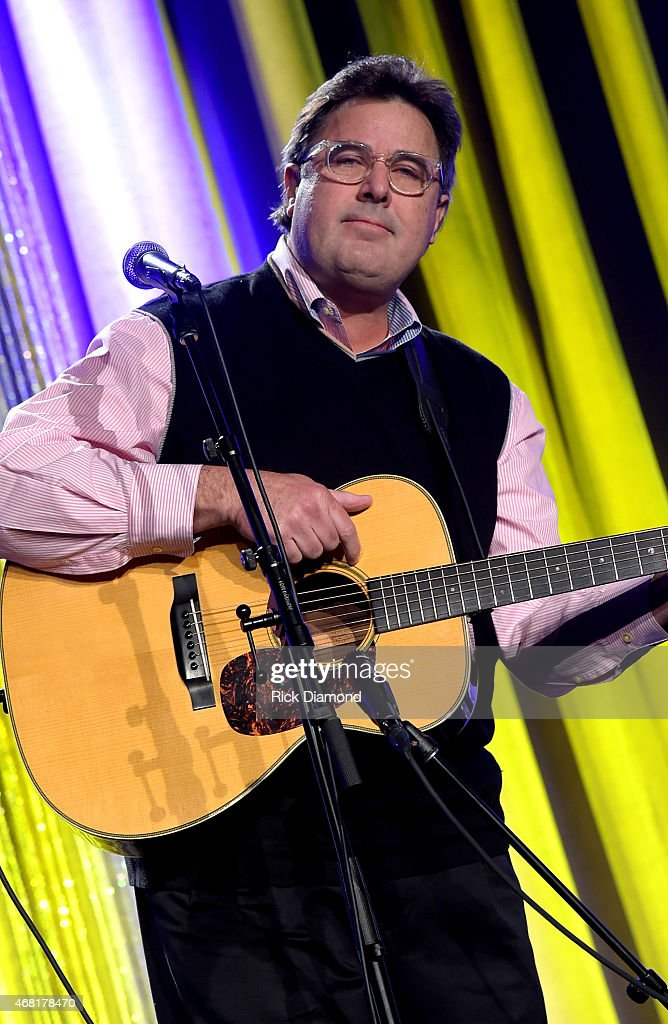 Vince Gill performs at the TJ Martell Foundation's 7th Annual Nashville Honors Gala at Omni Hotel Downtown on March 30 2015 in Nashville Tennessee