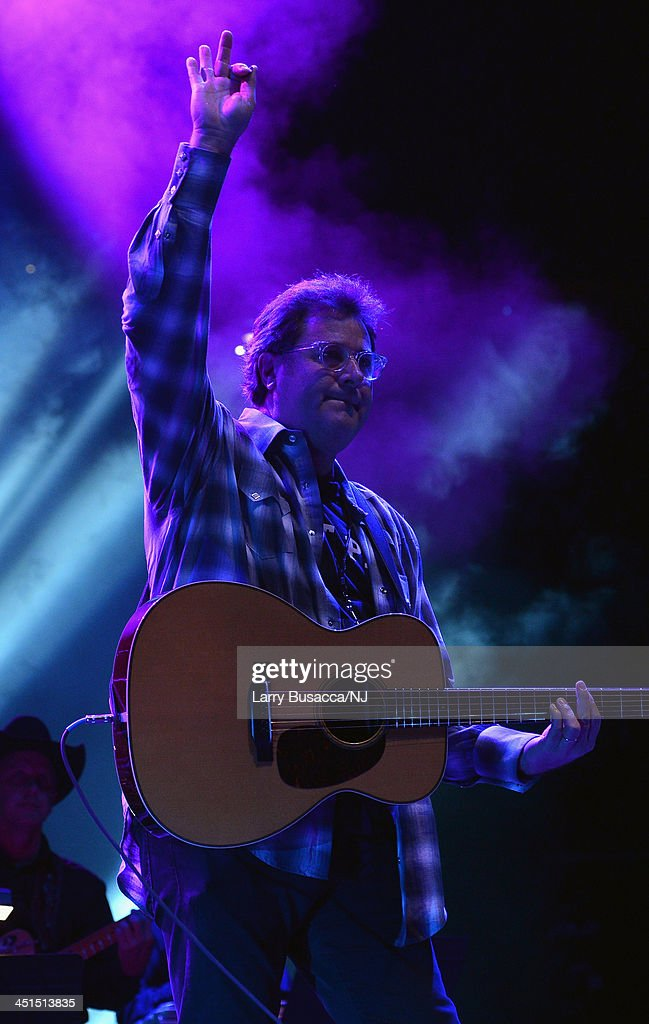 <a gi-track='captionPersonalityLinkClicked' href=/galleries/search?phrase=Vince+Gill&family=editorial&specificpeople=215309 ng-click='$event.stopPropagation()'>Vince Gill</a> performs during Playin' Possum! The Final No Show Tribute To George Jones - Show at Bridgestone Arena on November 22, 2013 in Nashville, Tennessee.