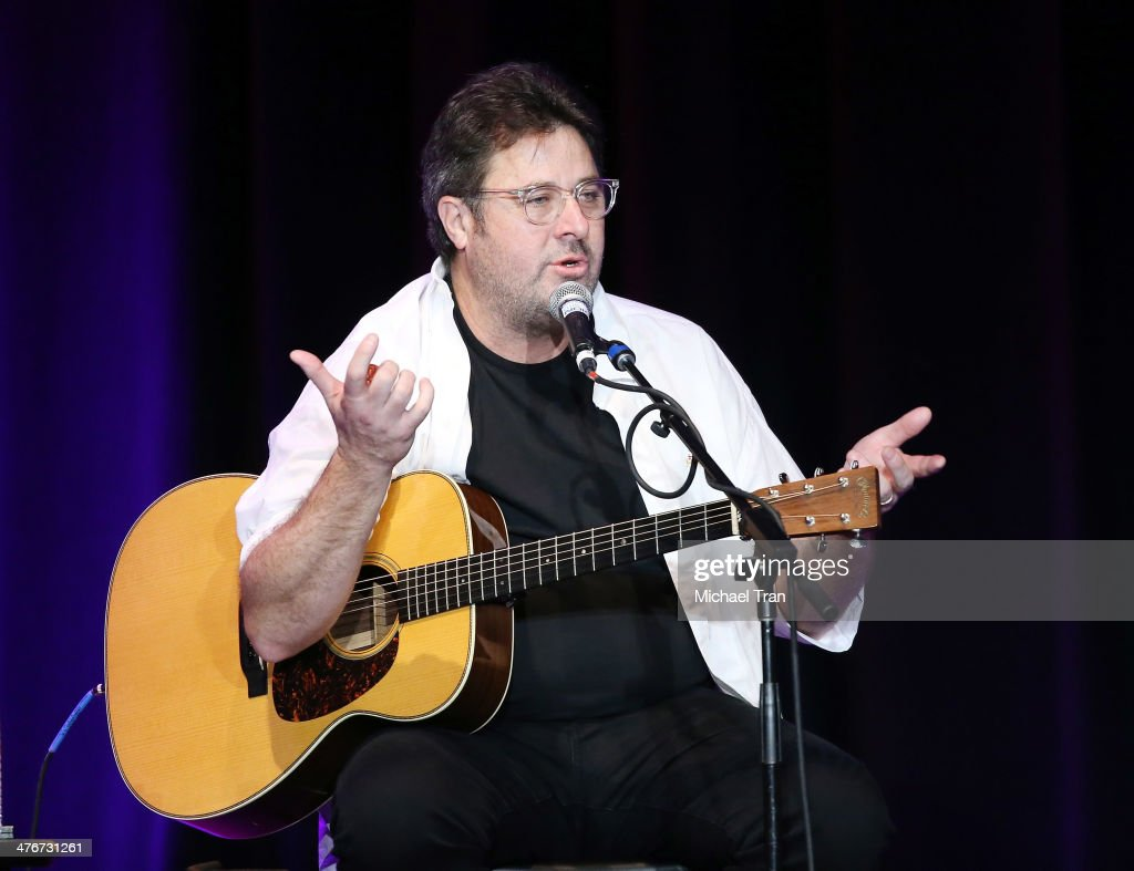 Vince Gill performs onstage during the Country Music Hall of Fame Museum's 'All For The Hall' held at Club Nokia on March 4 2014 in Los Angeles...