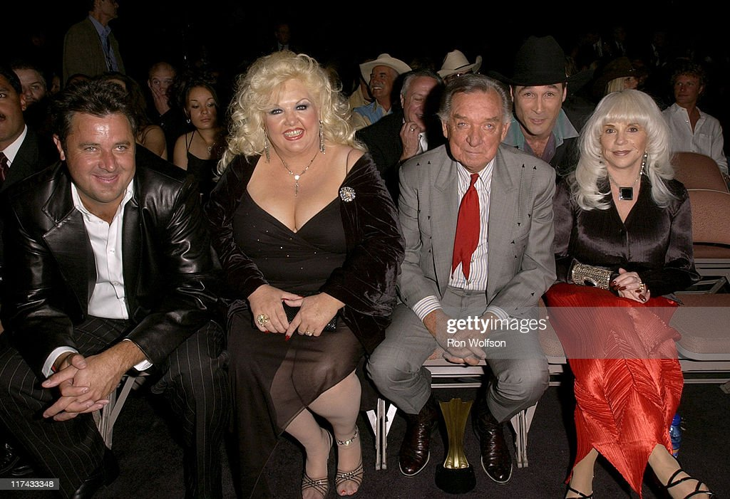 Vince Gill, Ray Price, Lib Hatcher and guest during 39th Annual Academy of Country Music Awards - Backstage and Audience at Mandalay Bay Resort and Casino in Las Vegas, Nevada, United States.