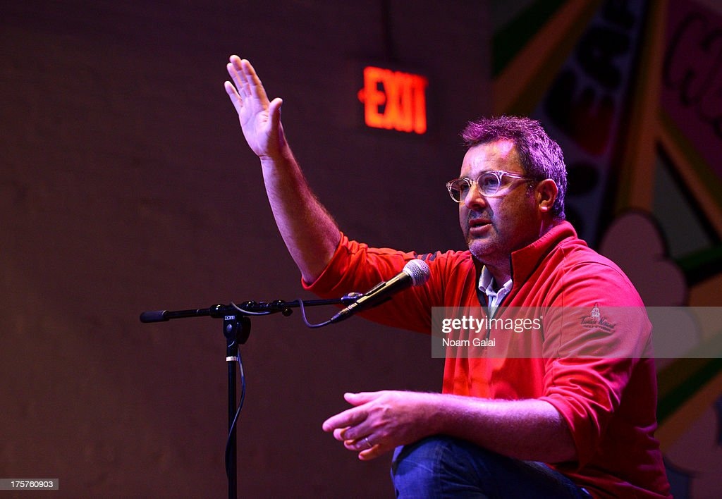 Vince Gill speaks to camp students during GRAMMY Foundations GRAMMY Camp at Converse Rubber Tracks on August 7 2013 in the Brooklyn borough of New...