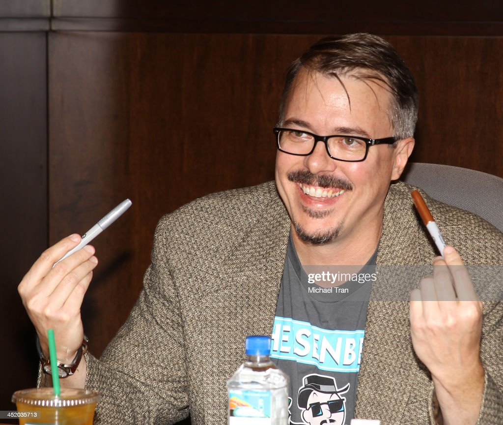 Vince Gilligan attends the 'No Half Measures Creating The Final Season Of Breaking Bad' DVD launch signing held at Barnes Noble bookstore at The...