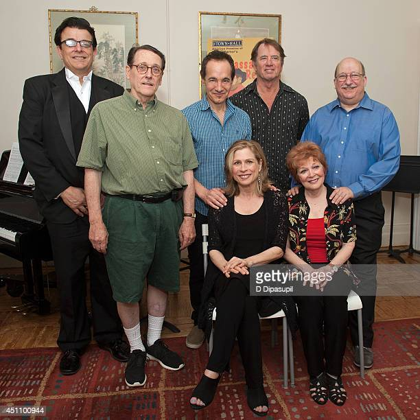Vince Giordano Peter Mintun Jason Graae Amy Burton Tom Wopat Anita Gillette and Ken Bloom attend 'The Ambassador Revue' press preview at 853 Studios...