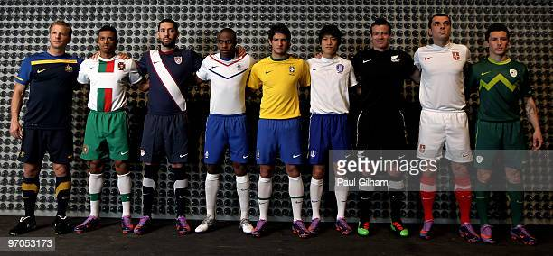 Vince Grella of Australia Nani of Portugal Clint Dempsey of USA Edson Bradfeeld of Netherlands Alexandre Pato of Brazil Cy Lee of Korea Ryan Nelson...