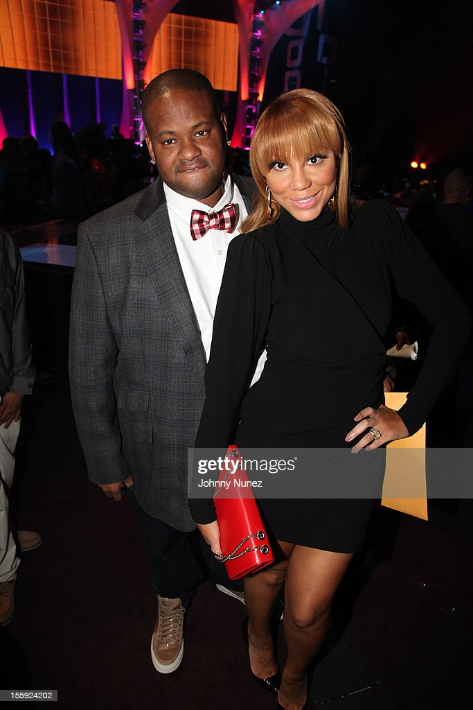 Vince Herbert and <a gi-track='captionPersonalityLinkClicked' href=/galleries/search?phrase=Tamar+Braxton&family=editorial&specificpeople=2079619 ng-click='$event.stopPropagation()'>Tamar Braxton</a> attend the Soul Train Awards 2012 at Planet Hollywood Casino Resort on November 8, 2012 in Las Vegas, Nevada.