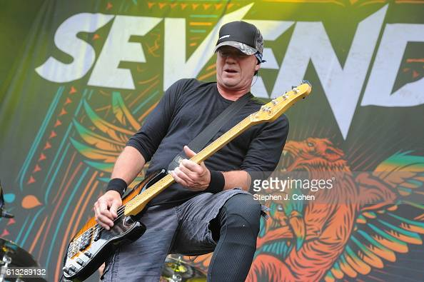 Vince Hornsby of Sevendust performs at Champions Park on October 2 2016 in Louisville Kentucky