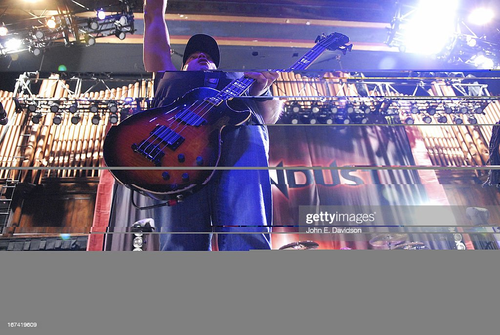 <a gi-track='captionPersonalityLinkClicked' href=/galleries/search?phrase=Vince+Hornsby&family=editorial&specificpeople=838051 ng-click='$event.stopPropagation()'>Vince Hornsby</a> of Sevendust performs at The Tabernacle on April 24, 2013 in Atlanta, Georgia.