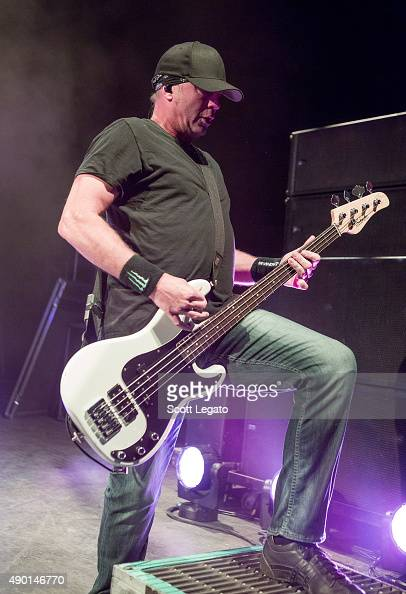 Vince Hornsby of Sevendust performs during the 1000HP Tour at The Fillmore Detroit on September 23 2015 in Detroit Michigan
