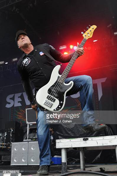 Vince Hornsby of Sevendust performs during the Louder Than Life Music Festival at Champions Park on October 3 2015 in Louisville Kentucky
