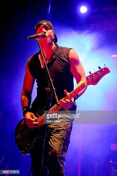 Vince Hornsby performs in concert with Sevendust during the River City Rock Fest at the ATT Center on May 26 2016 in San Antonio Texas
