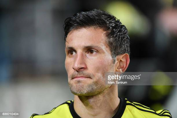 Vince Lia of the Wellington Phoenix during the round 15 ALeague match between the Wellington Phoenix and the Central Coast Mariners at Westpac...