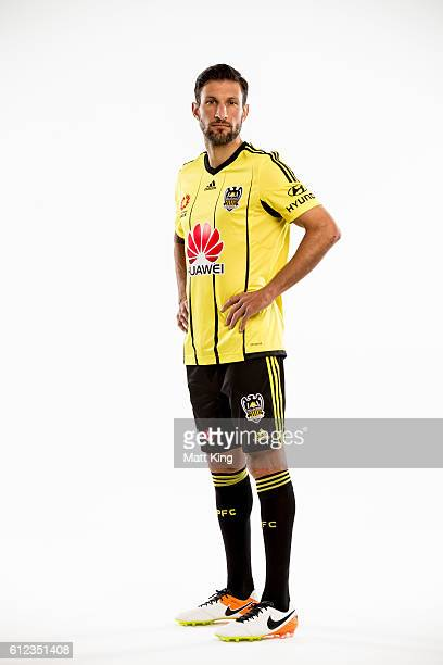Vince Lia of Wellington Phoenix poses during the 2016/17 ALeague Season Launch at ANZ Stadium on October 4 2016 in Sydney Australia