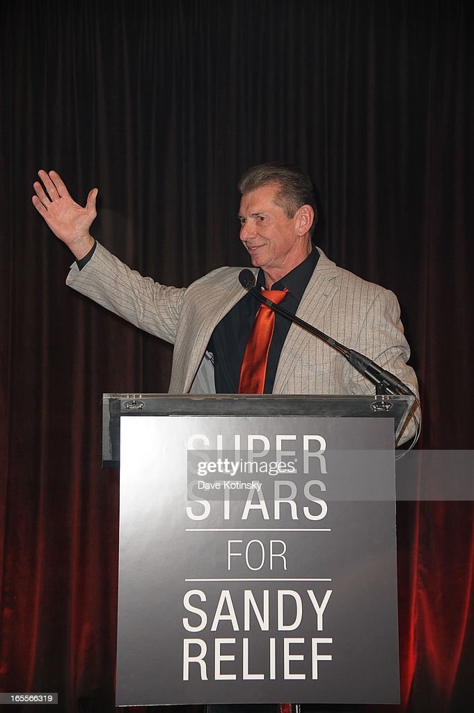 <a gi-track='captionPersonalityLinkClicked' href=/galleries/search?phrase=Vince+McMahon&family=editorial&specificpeople=644259 ng-click='$event.stopPropagation()'>Vince McMahon</a> attends the Superstars For Sandy Relief at Cipriani Wall Street on April 4, 2013 in New York City.