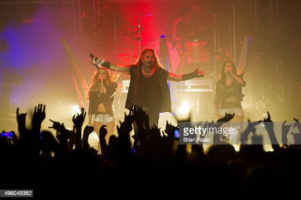 Vince Neil of Motley Crue performs at SSE Arena Wembley on November 6 2015 in London England