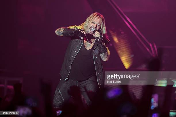 Vince Neill of Motley Crue performs at SSE Arena Wembley on November 6 2015 in London England