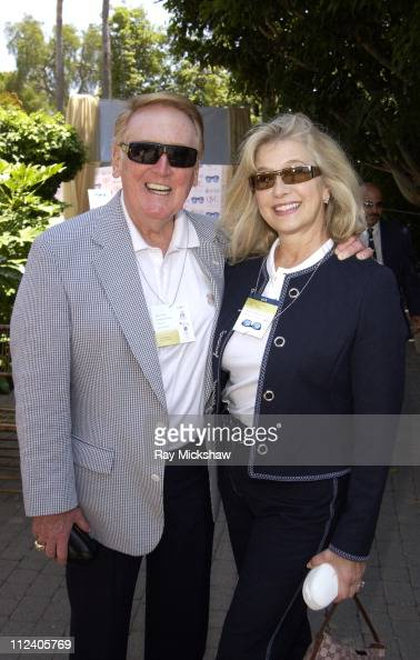 Vince Scully wearing YSL 2104s Sunglasses and Sandi Scully wearing YSL 0032s Sunglasses