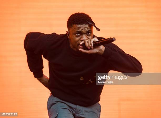 Vince Staples performs at the 2017 Panorama Music Festival at Randall's Island on July 29 2017 in New York City