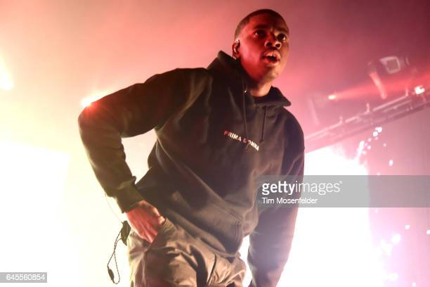 Vince Staples performs during Noise Pop 25 at the Fox Theater on February 25 2017 in Oakland California