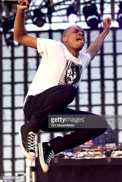 Vince Staples performs during the Sasquatch Music Festival at the Gorge Amphitheatre on May 27 2016 in George Washington