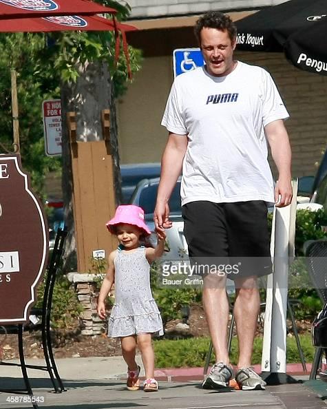 Vince Vaughn is seen with his daughter Locklyn Vaughn on July 05 2013 in Los Angeles California