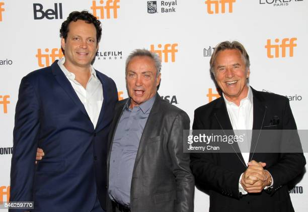Vince Vaughn Udo Kier and Don Johnson attend the 'Brawl in Cell Block 99' premiere during the 2017 Toronto International Film Festival at Ryerson...