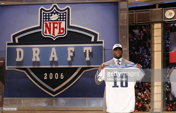 Vince Young QB from the University of Texas is the 3rd pick by the Tennessee Titans in the 2006 NFL Draft at Radio City Music Hall in NY NY on April...