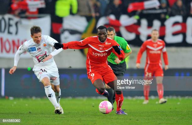 Vincent ABOUBAKAR / Mehdi MOSTEFA Valenciennes / Ajaccio 21e journee de Ligue 1 Photo Dave Winter / Icon Sport