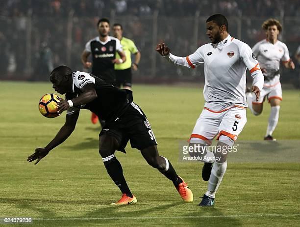 Vincent Aboubakar of Besiktas in action during the Turkish Spor Toto Super Lig match between Adanaspor and Besiktas at Adana 5 Ocak Fatih Terim...