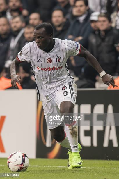 Vincent Aboubakar of Besiktas JKduring the UEFA Europa League round of 16 match between Besiktas JK and Hapoel Beer Sheva on February 23 2017 at the...