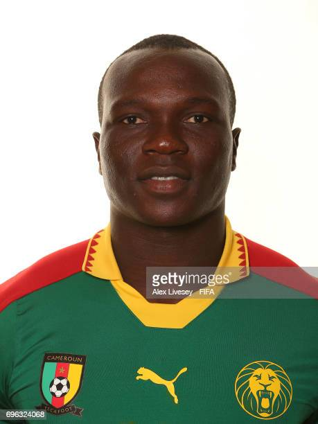 Vincent Aboubakar of Cameroon during a portrait shoot ahead of the FIFA Confederations Cup Russia 2017 at the Renaissance Monarch Hotel on June 15...